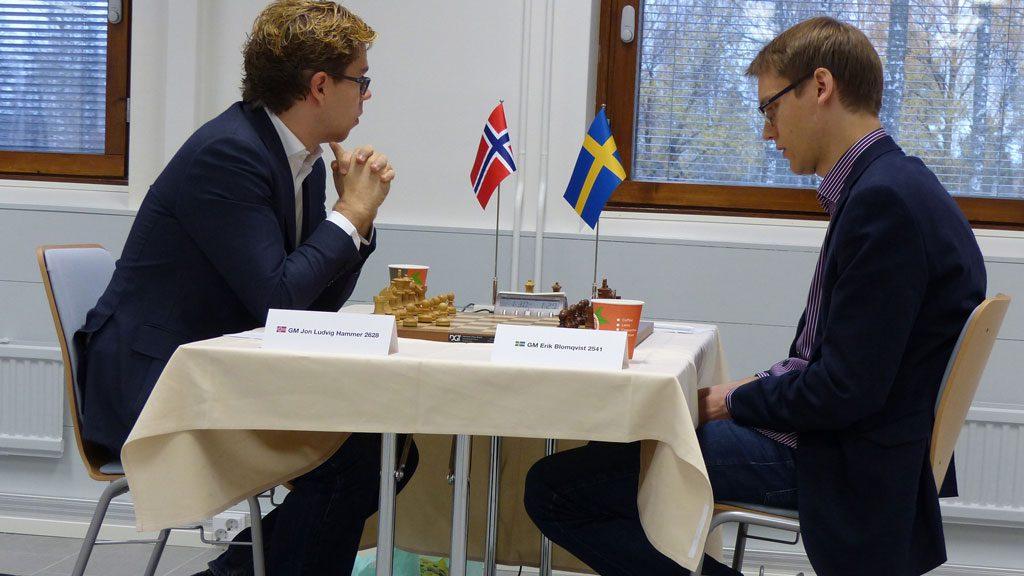 Jon Ludvig Hammer fikk en  dårlig start på Nordisk mesterskap med tap for Erik Blomqvist. Foto: Toivo Pudas