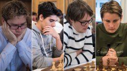 Jon Ludvig Hammer, Aryan Tari, Frode Urkedal og Johan-Sebastian Christiansen spiller i svensk sjakkliga. Alle foto: Lars OA. Hedlund