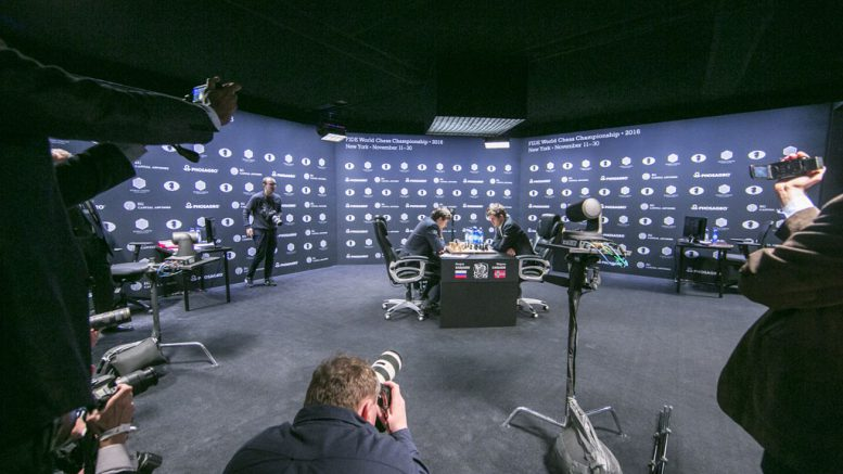 Press were eager to capture what some thought would be the final game in New York. Photo: Maria Emelianova