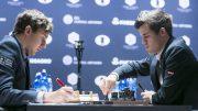 Head to head, toe to toe. Carlsen asks Russia to show him. Photo: Maria Emelianova