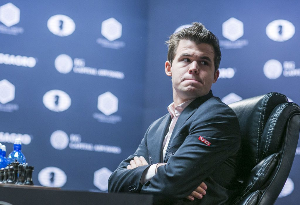 Magnus Carlsen equalized quickly with the black pieces in game 6. Photo: Maria Emelianova