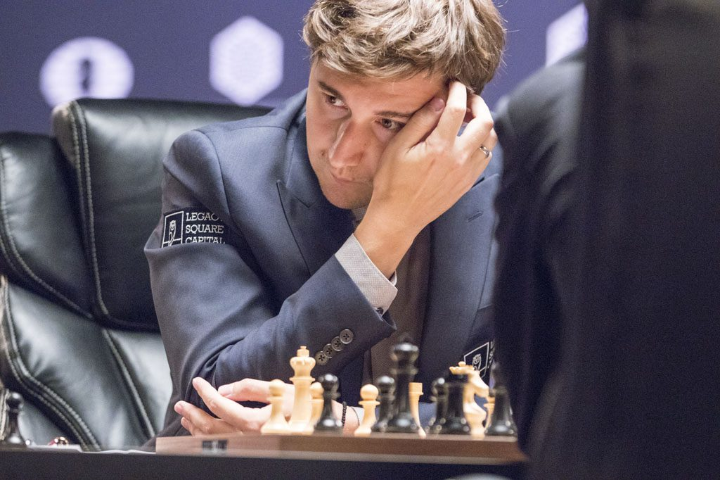 Sergey Karjakin must be pleased with how the match is going so far. Photo: Maria Emelianova