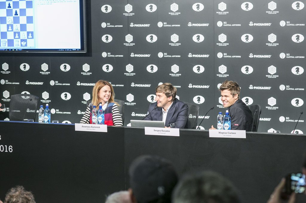The press conferences have its moments, but clearly have room for improvements. Photo: Maria Emelianova