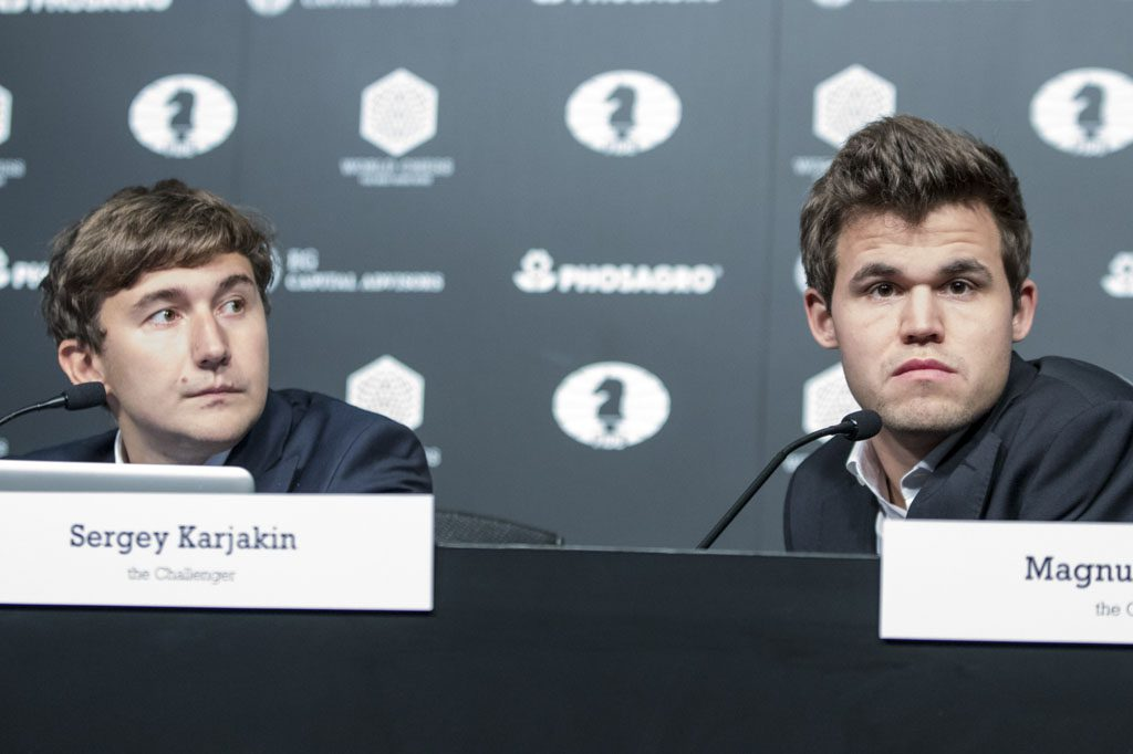 This time they both appeared at the press conference. Eventually. Photo: Maria Emelianova