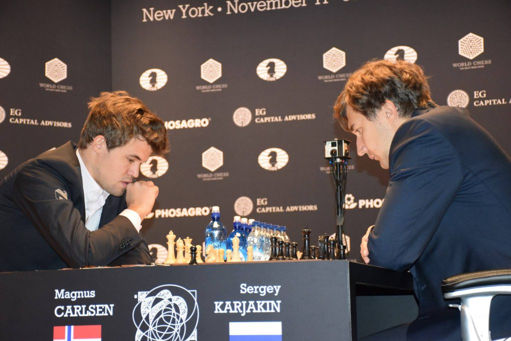 Did Magnus Carlsen go for the draw from move 1? Photo: Yerazik Khachatourian