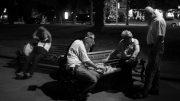 Sjakkspillere i Lviv. Foto: prospekt Svobody (CC BY-NC-ND 2.0)