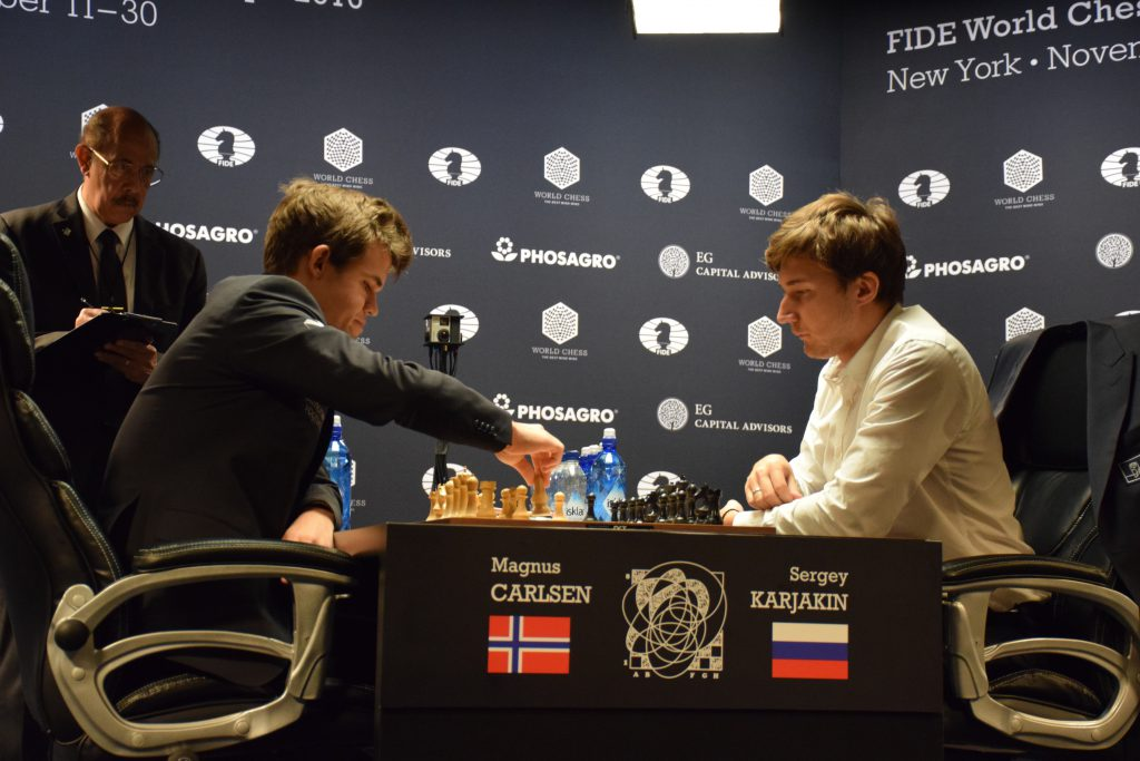 Magnus Carlsen seemingly had everything under control. Photo: Yerazik Khachatourian