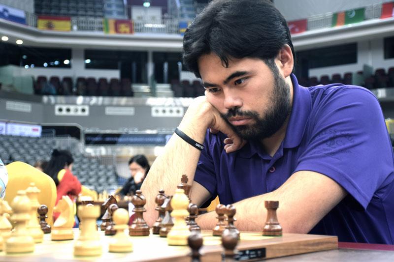 Hikaru Nakamura deltar for tredje gang i Norway Chess. Her er han i Qatar nylig. Foto: Yerazik Khachatourian