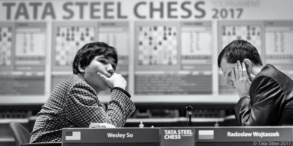 Wesley So vant over Radoslaw Wojtaszek og tok sin tredje seier i Wijk aan Zee. Foto: Alina l'Ami/Tata Steel Chess