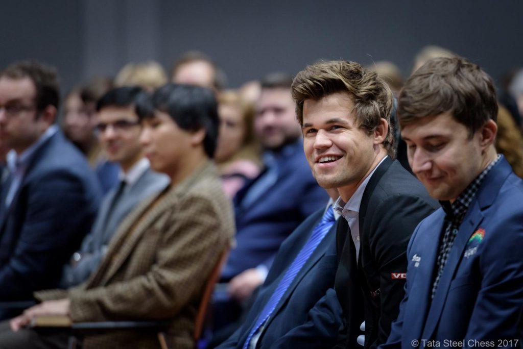 Magnus Carlsen kan kanskje avgjøre Tata Steel Chess i 13. - og siste runde mot Sergey Karjakin. Foto: Tata Steel Chess