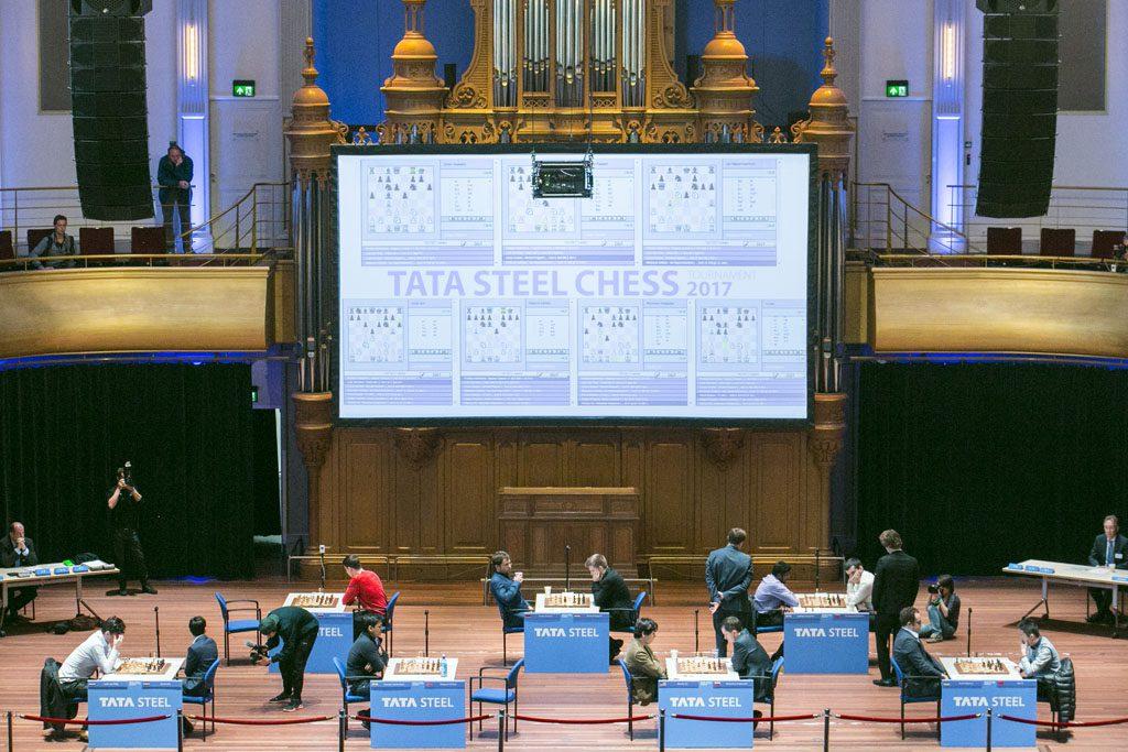 Oversiktsbilde av Haarlems filarmoniske konserthall. Foto: Maria Emelianova