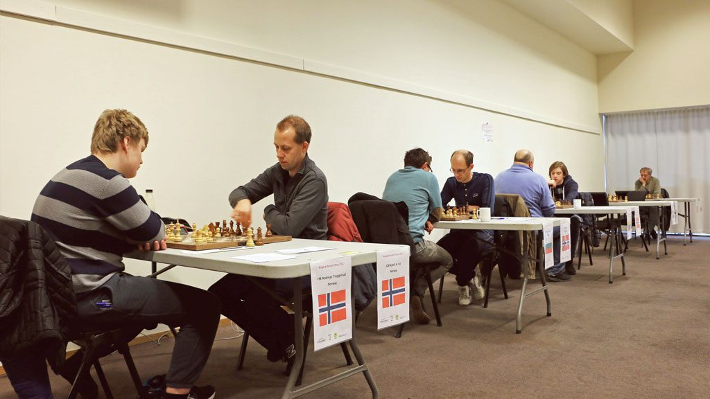 Fra siste runde i Kragerø Chess. Foto: Tanja Kveim