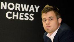 Magnus Carlsen i Norway Chess i fjor. Foto: Yerazik Khachatourian