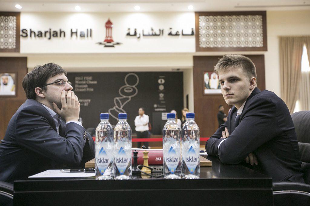 Maxime Vachier-Lagrave vant enkelt over Richard Rapport. Foto: Maria Emelianova