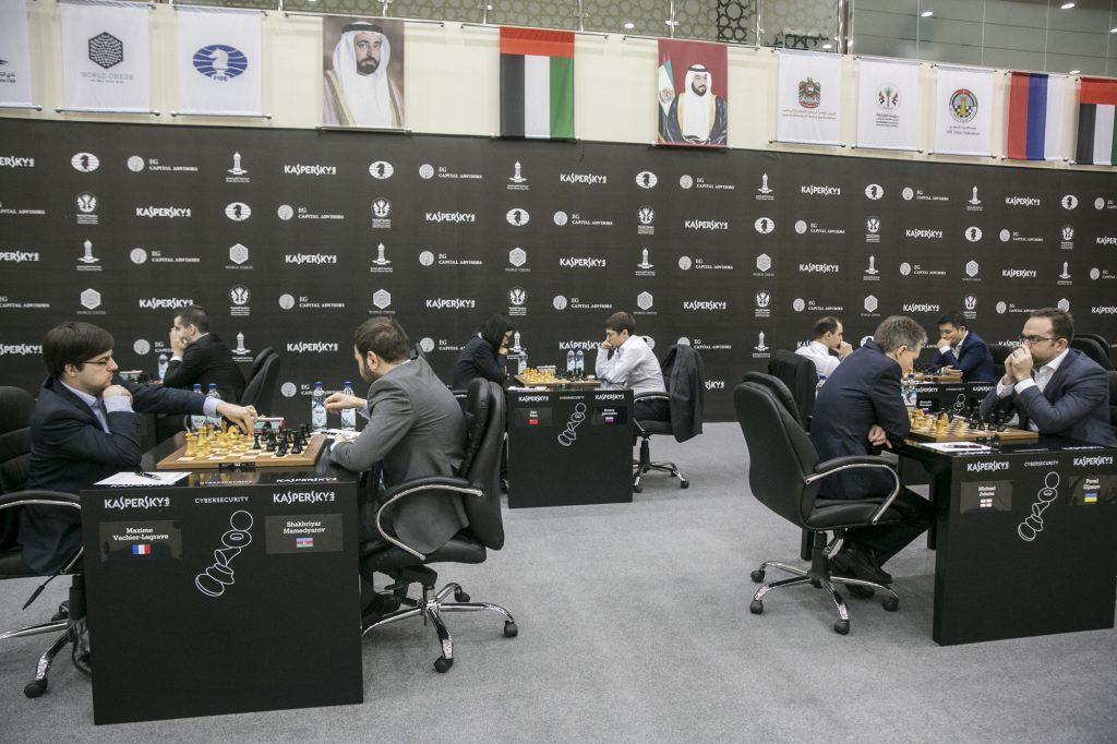 Sharjah Grand Prix spilles i den gigantiske sjakklubben i Sharjah som har 25 ansatte på bare 300-400 medlemmer. Foto: Maria Emelianova