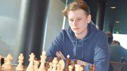 NAPPJAKT: Johan-Sebastian Christiansen (18) under Reykjavik Open torsdag. Foto: Tarjei J. Svensen