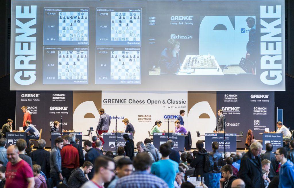 UTSIKT: Parallelt med Grenke Chess Classic, spilles det en åpen turnering med 1200 deltakere. Foto: Lennart Ootes