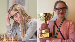 Ingrid Skaslien og Live Jørgensen Skigelstrand med gullmedaljer i Nordisk mesterskap. Foto: Lars OA Hedlund/Ivar Jørgensen