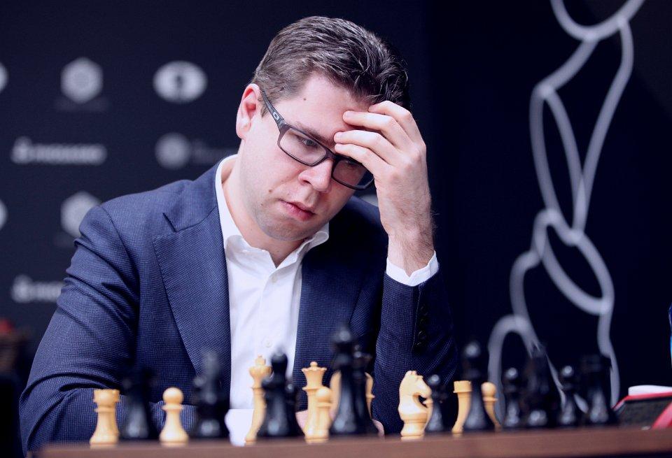MISFORNØYD: Jon Ludvig Hammer har én seier, tre remiser og ett tap etter fem runder, men er likevel ikke helt fornøyd. Foto: Anastasiya Karlovich/FIDE