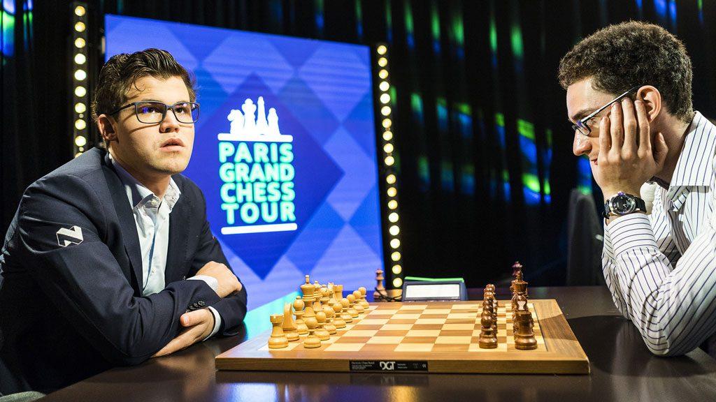 Magnus Carlsen åpnet med seier over Fabiano Caruana. Foto: Lennart Ootes