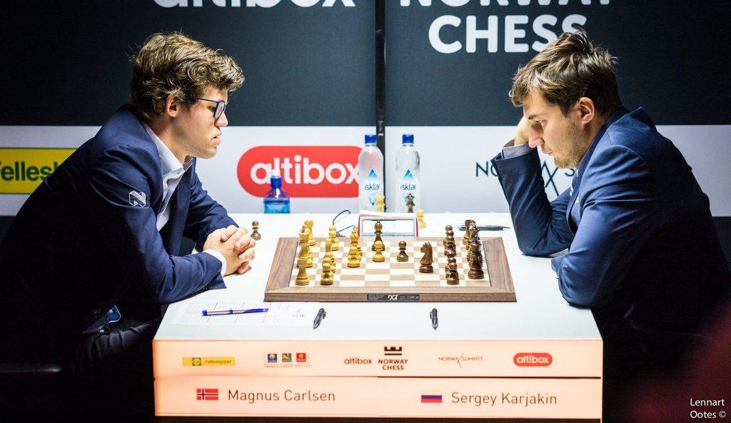 SEIER: Endelig vant Magnus Carlsen over Sergey Karjakin. Foto: Lennart Ootes