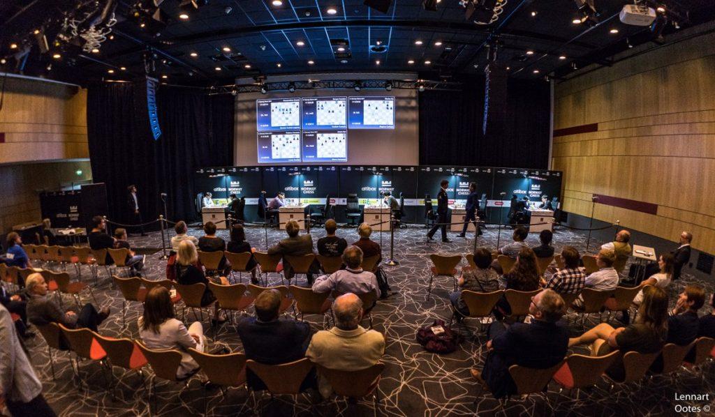 POPULÆRT: Stor interesse for sjakk på Clarion Energy Hotell i Stavanger. Foto: Lennart Ootes