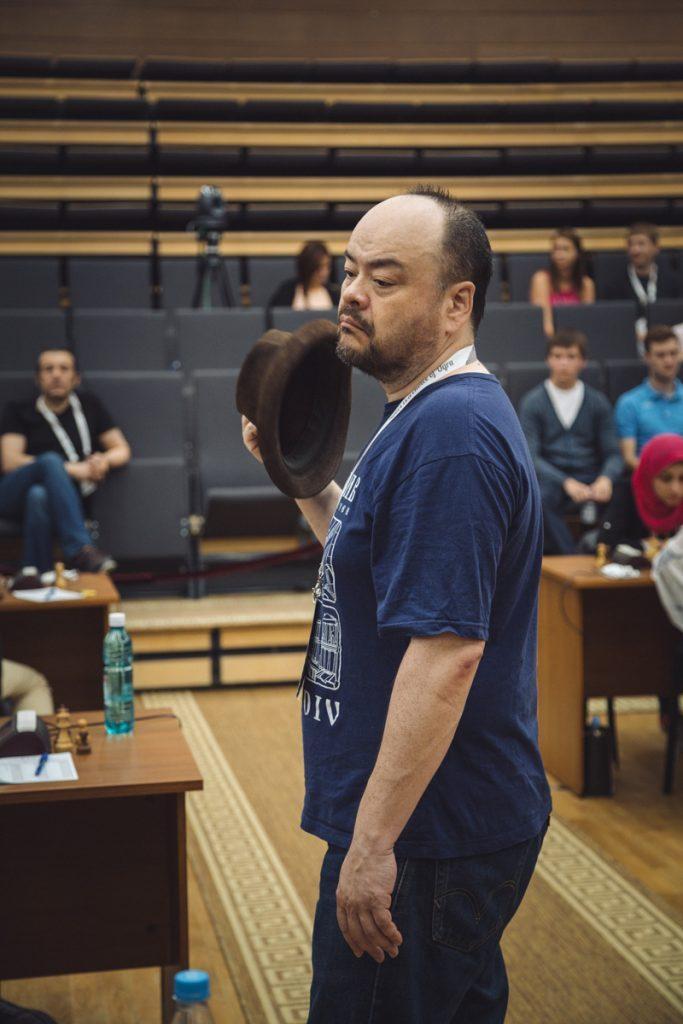 KAPTEIN: Jonathan Tisdall er med til Khanty-Mansiysk. Foto: ugra2017.fide.com