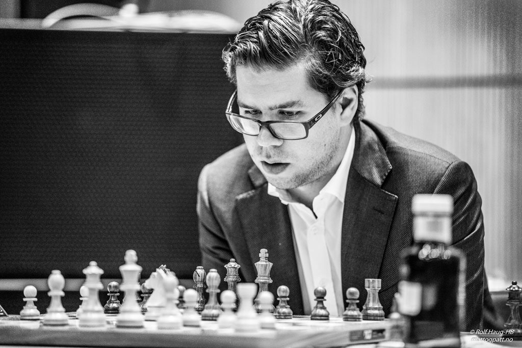 BEKYMRET: Jon Ludvig Hammer var bekymret da han var i trøbbel i siste runde mot Kjetil A. Lie. Foto: Rolf Haug/mattogpatt.no