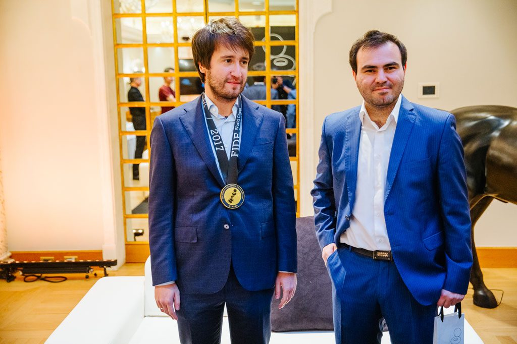ASERBADSJAN: Landsmennene Teimour Radjabov og Shakhriyar Mamedyarov kan vinne de to plassene til Kandidatturneringen. Foto: Valera Belobeev/worldchess.com