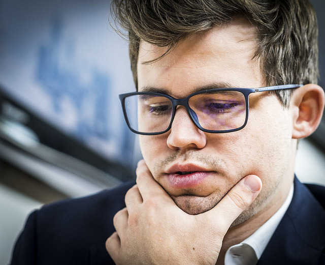 Kan Magnus Carlsen vinne Sinquefield Cup for andre gang? Foto: Lennart Ootes/Grand Chess Tour