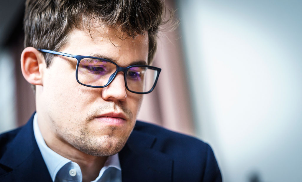 OPPLØFTENDE: Det var lyspunkter å hente for Magnus Carlsen i St. Louis. Foto: Lennart Ootes/Grand Chess Tour