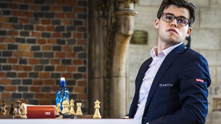 FRISKMELDT? Magnus Carlsen med én seier og to remiser i starten av Sinquefield Cup. Foto: Lennart Ootes/Grand Chess Tour