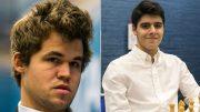 NORSKE HÅP: Magnus Carlsen bør enkelt ta seg videre til andre runde, mens Aryan Tari får langt tøffere motstand i World Cup i september. Foto: Maria Emelianova/Tarjei J. Svensen