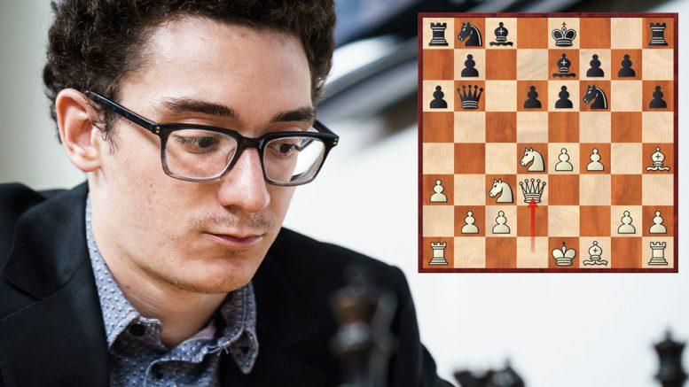 SJOKKTREKK: Fabiano Caruanas 10.Dd3 i Najdorf fikk ekspertene til å steile. Foto: Lennart Ootes/Grand Chess Tour