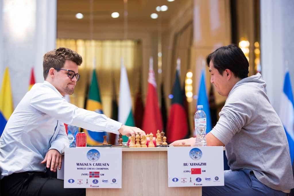 REMIS: Her er Magnus Carlsens drøm om World Cup-seier over etter matchtap mot Bu Xiangzhi. Foto: Maria Emelianova