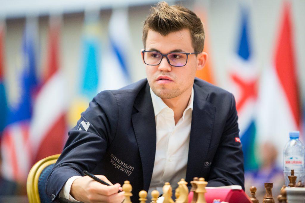 Magnus Carlsen har vunnet samtlige tre partier i Tbilisi. Foto: Maria Emelianova/mattogpatt.no