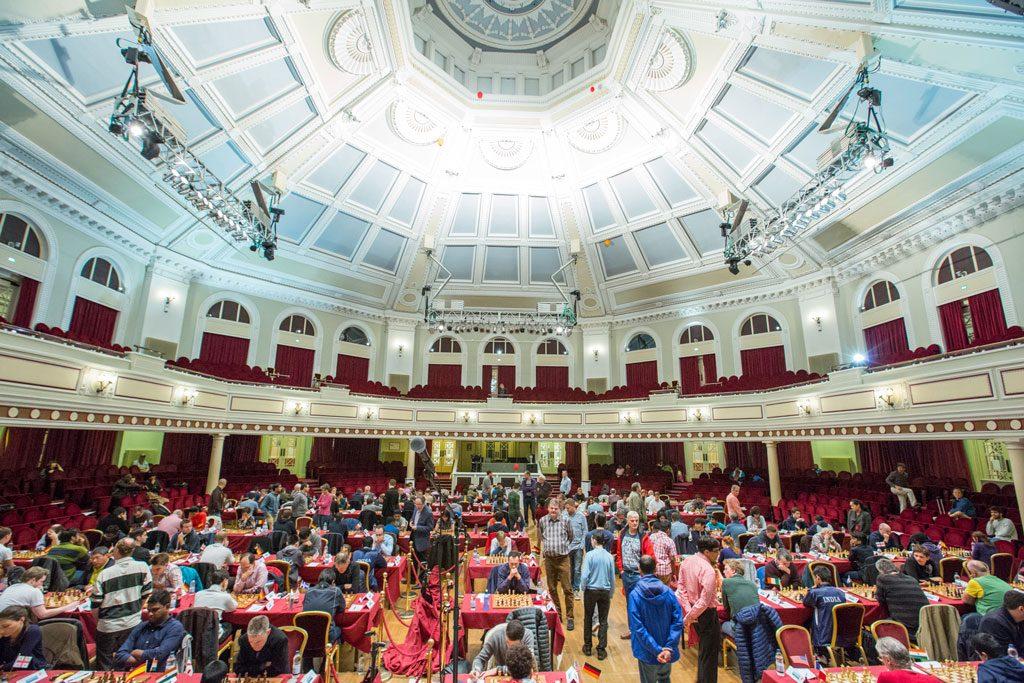 Fra det flotte spillestedet på Isle of Man. Foto: Maria Emelianova/chess.com