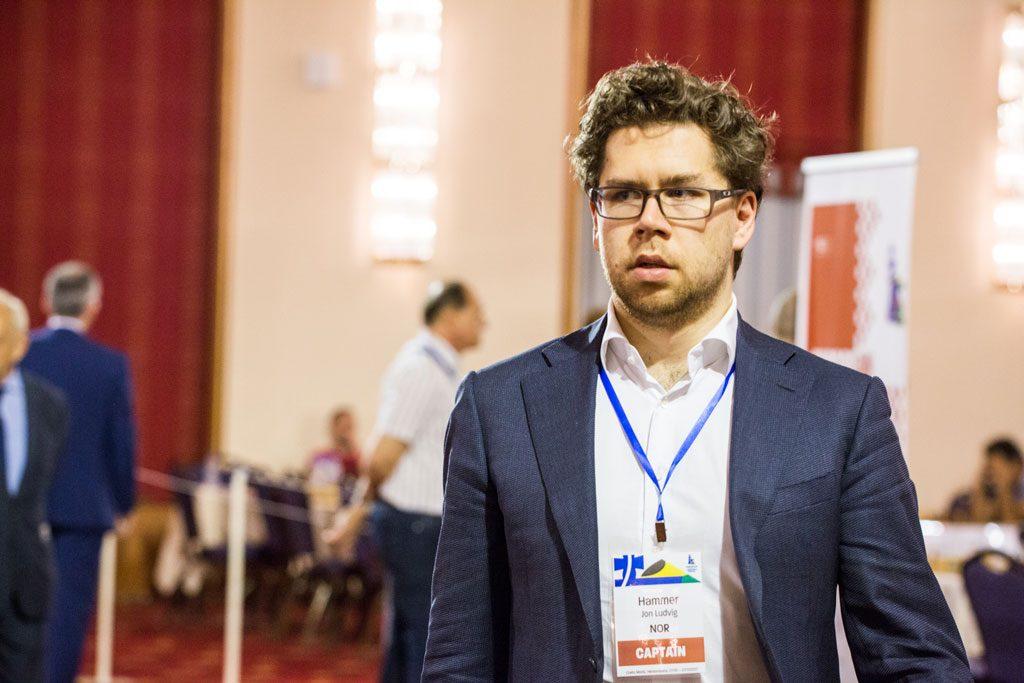 TAP: Jon Ludvig Hammer måtte gi tapt mot David Howell i andre runde. Foto: Maria Emelianova/chess.com