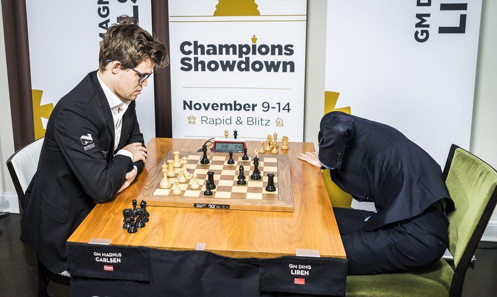 Magnus Carlsen slo kraftig tilbake etter tapet i åpningen mandag og vant seks av sju partier. Foto: Lennart Ootes