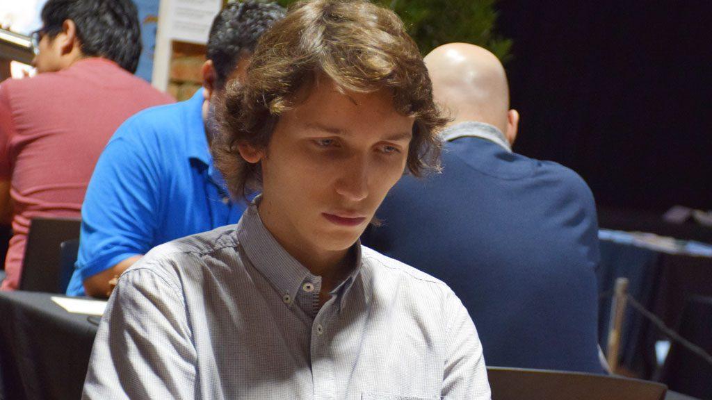 Gregorij Oparin (20), her fra Barcelona i sommer. Foto: Tarjei J. Svensen