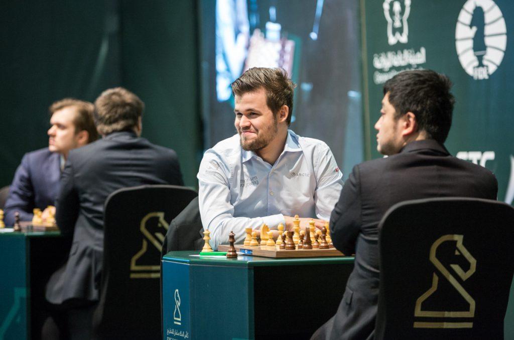 KNUSENDE: Magnus Carlsen vant lett over kinesiske Yue Wang i 7. runde. Foto: Maria Emelianova/chess.com