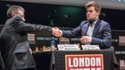 COMEBACK: Magnus Carlsen slo tilbake og vant partiet mot Michael Adams etter å hatt en tapt stilling underveis. Foto: Maria Emelianova/chess.com