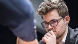 Magnus Carlsen i oppgjøret mot Wesley So i London Chess Classic. Foto: Lennart Ootes/Grand Chess Tour