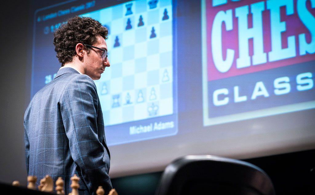 LEDER: Fabiano Caruana leder London Chess Classic 2017 når 6 av 9 runder er spilt. Foto: Lennart Ootes/Grand Chess Tour