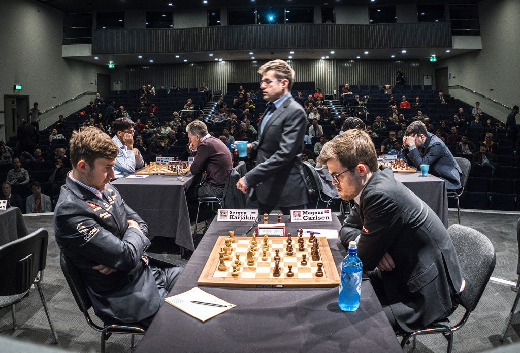 London Chess Classic spilles i Olympia Hall i Kensington-distriktet i London. Foto: Lennart Ootes/Grand Chess Tour
