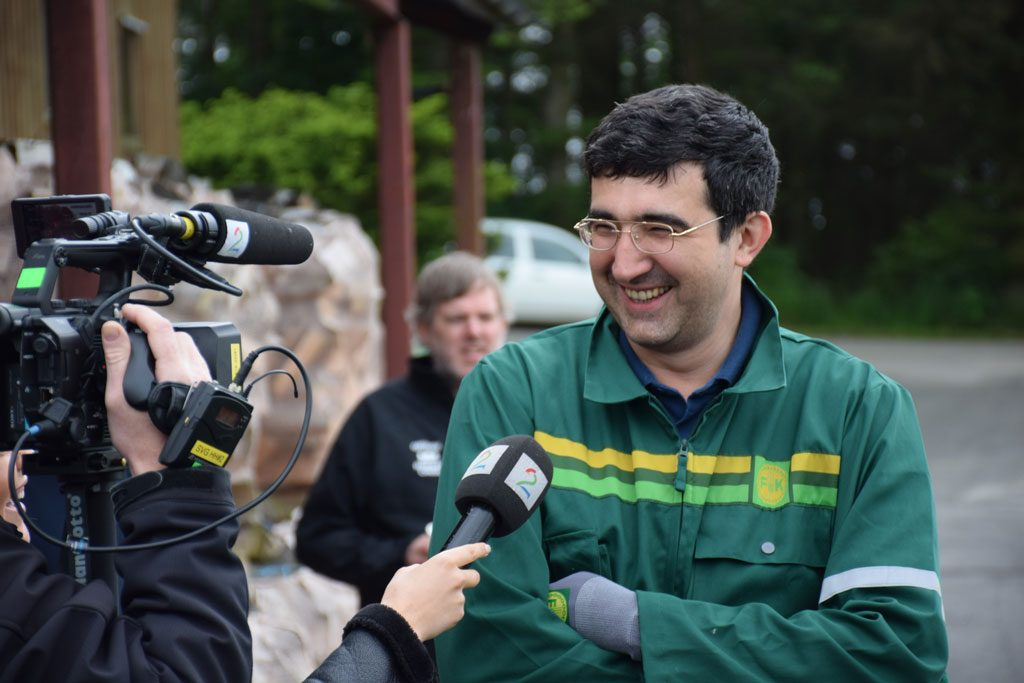 Vladimir Kramnik under sponsormøtet med Felleskjøpet i Norway Chess i Stavanger i 2017. Foto: Tarjei J. Svensen