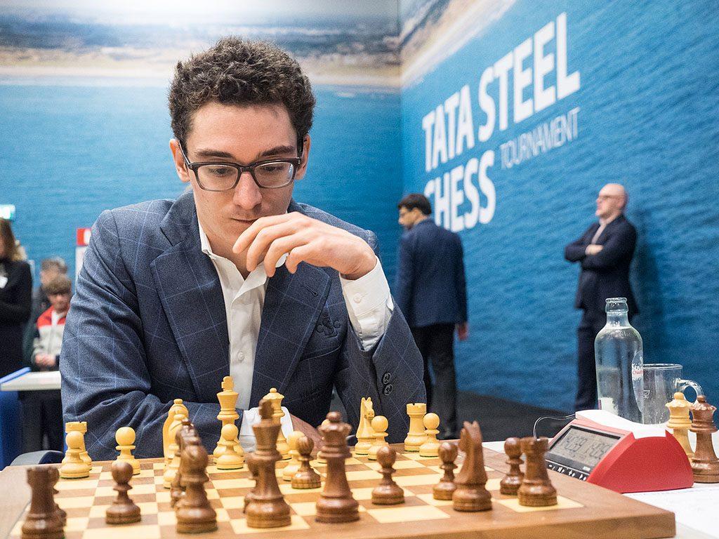 Fabiano Caruana sliter i Tata Steel Chess med bare én seier på 11 runder. Foto: Maria Emelianova