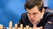 REMIS: Magnus Carlsen med ny remis i 5. runde mot Peter Svidler i Tata Steel Chess. Foto: Alina l'Ami