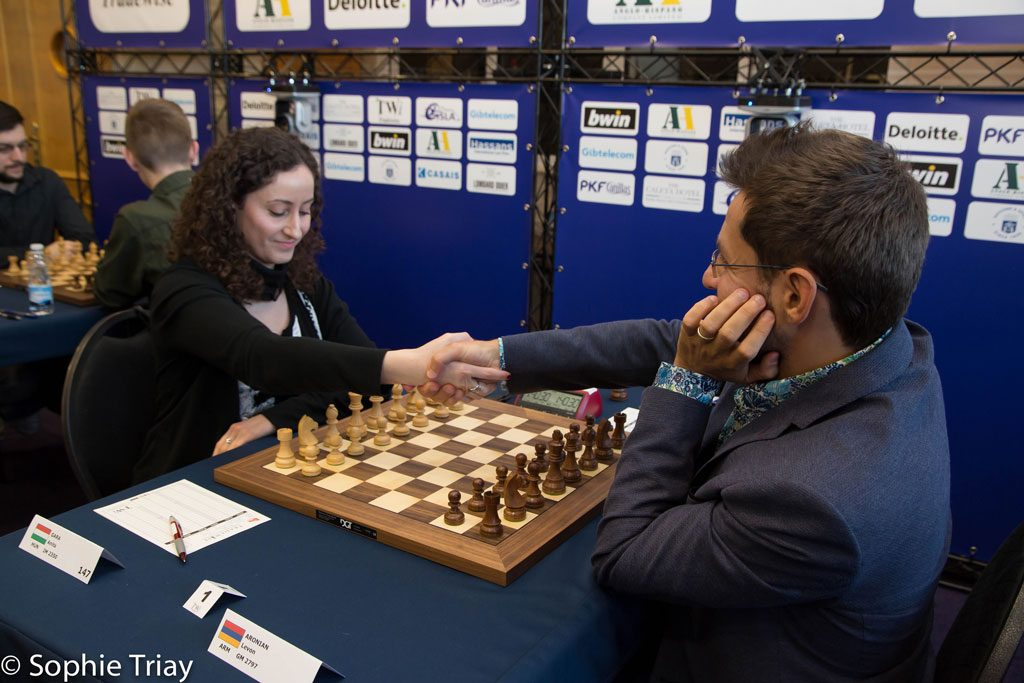 Hungarian Anita Gara upset the Armenian superstar, but that didn't stop him from winning the event. Photo: Sophia Triay