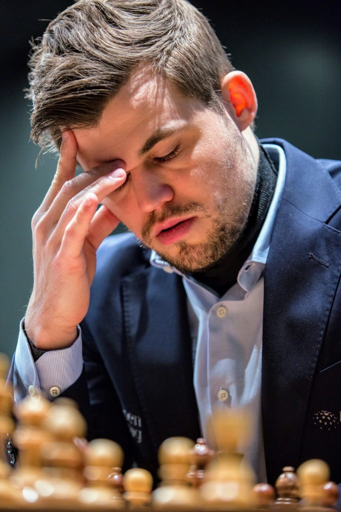 Carlsen has been trying to relax and set up residence in 'the zone' again. Photo: Maria Emelianova
